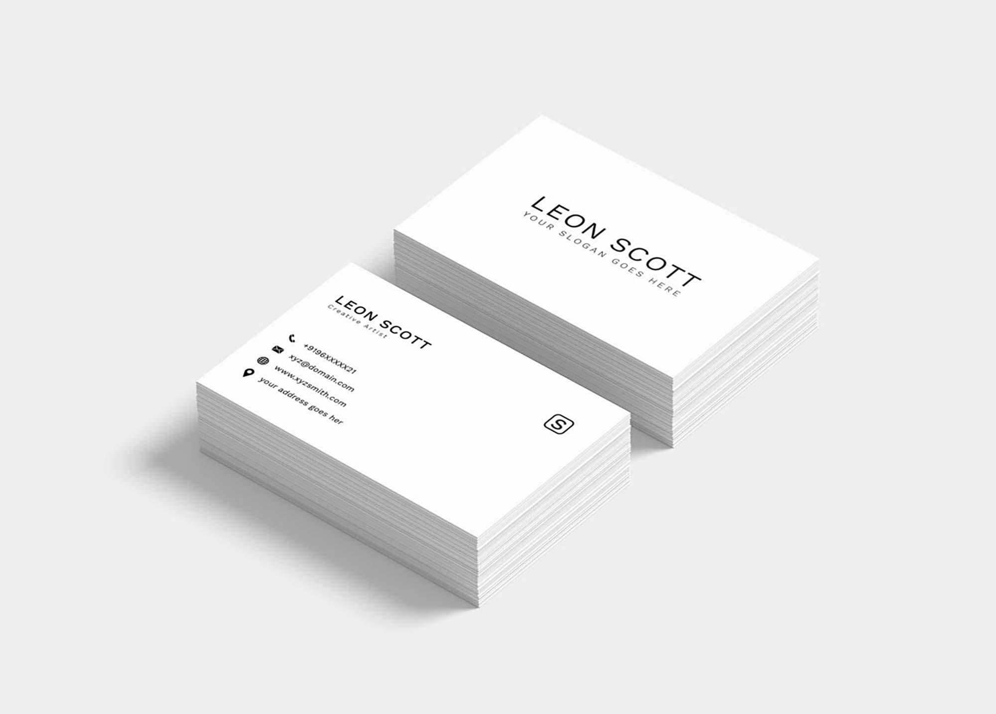 tarjetas de presentación elegantes