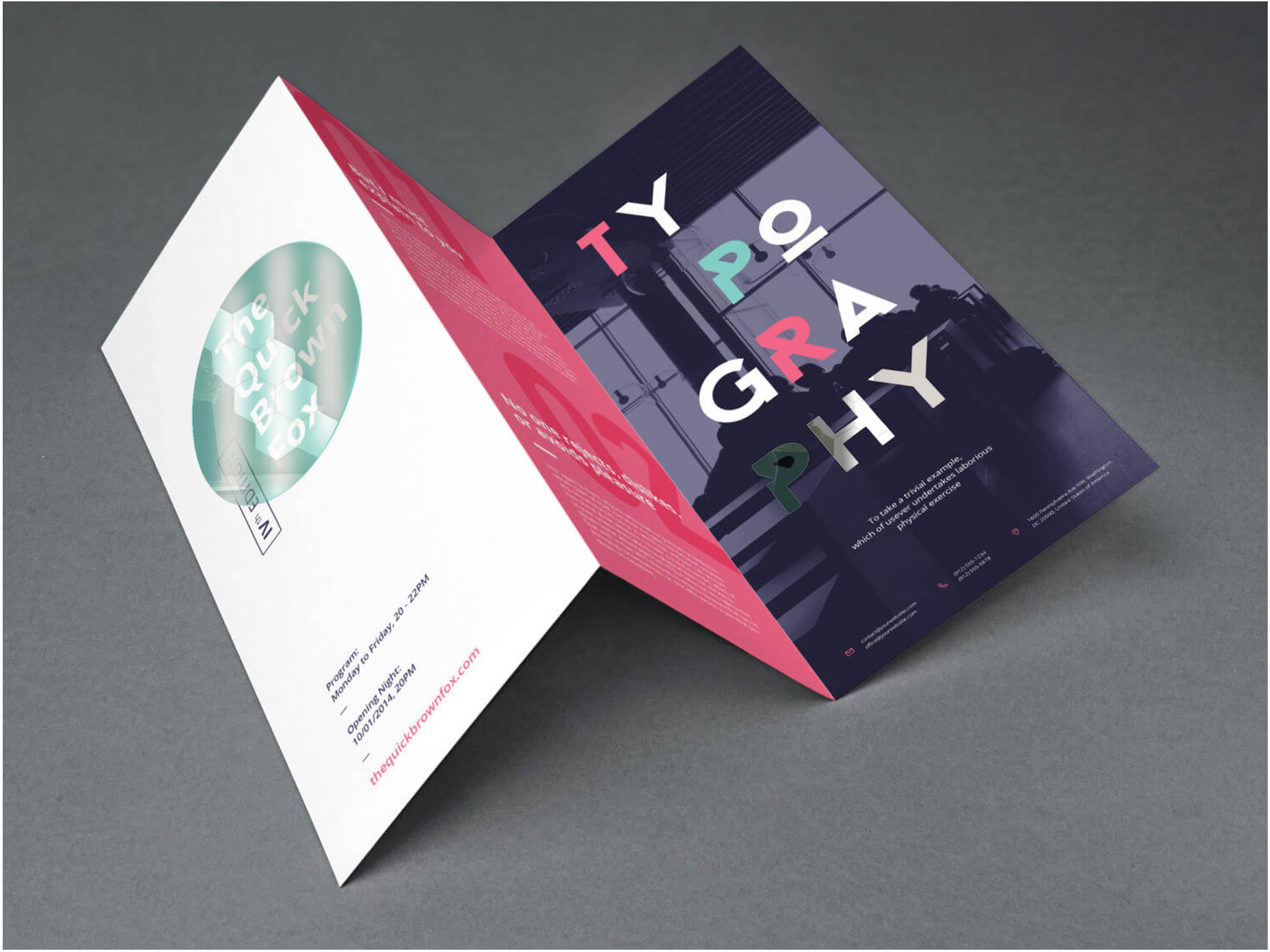 brochures plegables