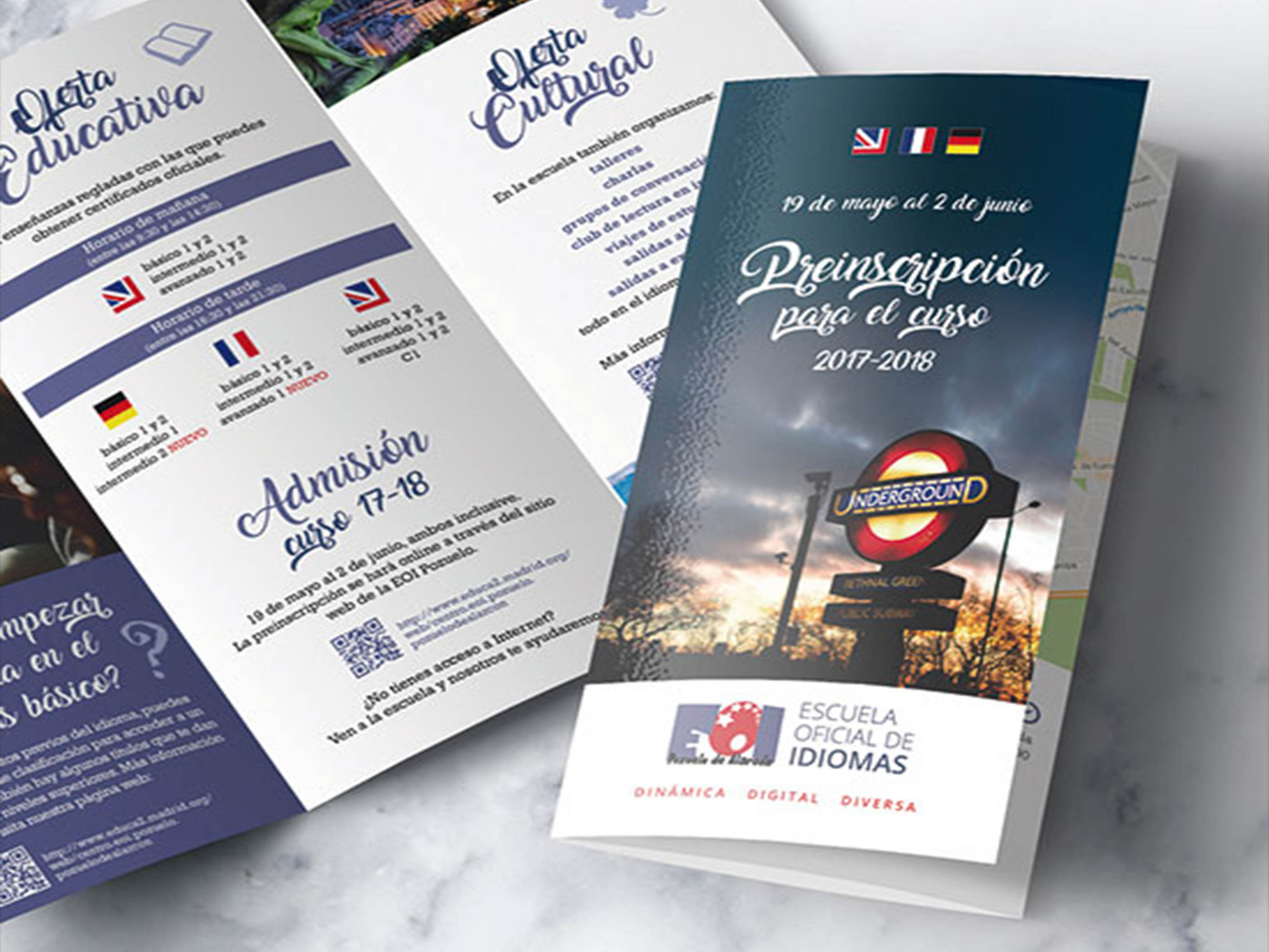 brochures folletos plegables