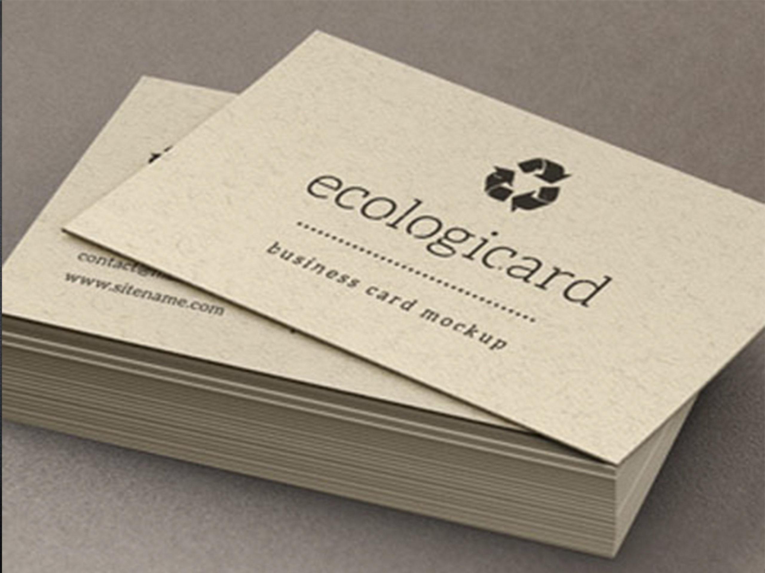tarjeta de presentacion ecologica